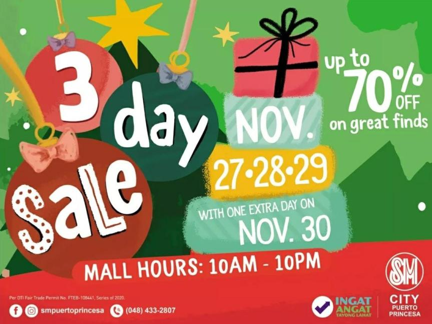 SM Puerto Princesa 3-Day Sale is back this November