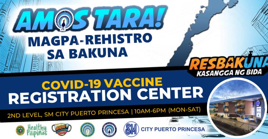 SM City Puerto Princesa starts Covid-19 vaccinationregistration